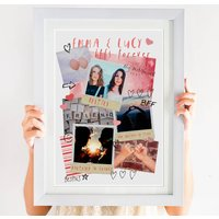 Personalised Best Friends Photo Collage Print