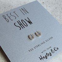 'Best In Show' Silver Horseshoe Earrings, Silver