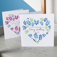 Personalised Heart Christening Card For Boys And Girls