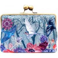 Sky Ink Silk Clutch Bag