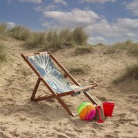 Chill Out Summer House Floral Deckchair