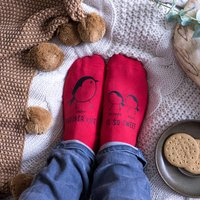 Personalised Family Of Robins Christmas Socks