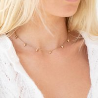Signature Mini Beaded Charm Necklace