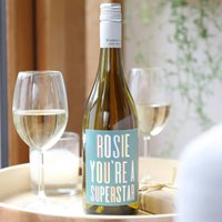 Personalised Colourful Superstar Bottle Of Wine