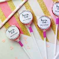 Personalised Save The Date Wedding Lollipops