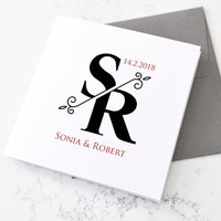 Personalised Monogrammed Initials Card