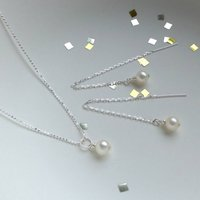Sterling Silver And Pearl Jewellery Set, Silver