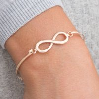 Chiara Sterling Silver Infinity Bangle, Silver