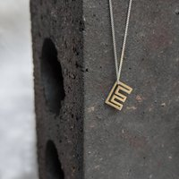 Silver Initial Necklace, Silver