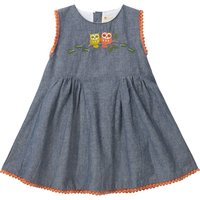 Baby Girls Owl Chambray Dress