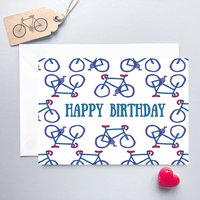 Happy Birthday Bike Card