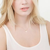 Small Disc Necklace, Gold/Silver