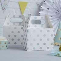Silver Foiled Polka Dot Party Boxes