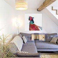 Inky Pheasant Canvas Gallery Print