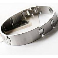 Men's Stainless Steel Solid Link Bracelet