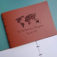 Honeymoon Personalised Leather Travel Scrapbook Album