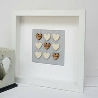First Wedding Anniversary Paper And Pottery Love Hearts