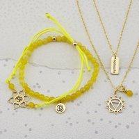Gold Solar Plexus Chakra Jewellery Set, Gold