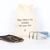 Garden Tools, Gloves And Personalised Bag
