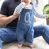 Organic Personalised Baby Dungarees