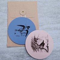 British Birds Leather Coasters