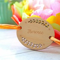 Personalised Fern Wooden Place Settings