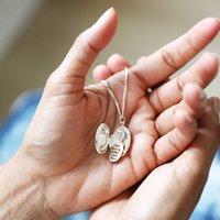 Personalised Birth Flower Locket Necklace