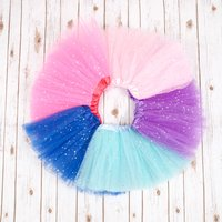 Girls Party Tutu, Royal Blue/Blue/Candy Pink
