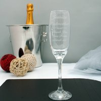 Engraved Champagne Flute For The Godmother