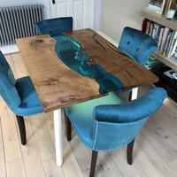 Bijou Glass River Dining Table