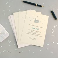 Personalised Hand Foiled Christening Invitations