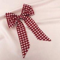 Red Gingham Print Euphrasie Hair Bow