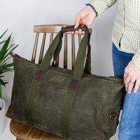 Personalised Waxed Travel Weekend Bag