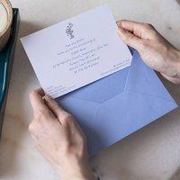 Personalised Illustrated Christening Invitations, Chocolate/Olive/Aubergine