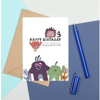 Personalised Happy Birthday Little Monster Card