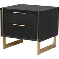 Morcott Storm Two Drawer Bedside Cabinet