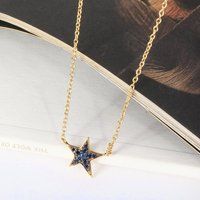 Star Necklace With Gemstones