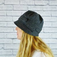 Yorkshire Herringbone Tweed Cloche Hat