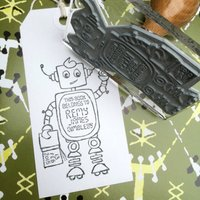 Personalised 'Robot' Book Belongs To Stamp