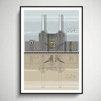 Battersea Power Station Architectural Print