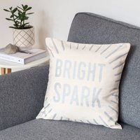 Bright Spark Silver Cushion Cover