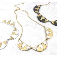 Statement Geometric Semi Circle Moon Necklace