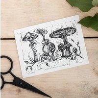 'Mushroom Musketeers' Lino Print