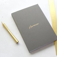 Grey And Gold A5 Planner