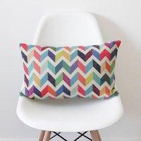 Geometric Chevron Bolster Cushion Cover