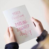 Personalised Merry Christmas Daughter Card