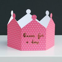Queen For A Day Crown Card