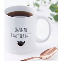 Personalised Crazy Tea Lady Mug