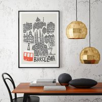 Barcelona City Print