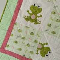 Quilted Play Mat With Frogs
